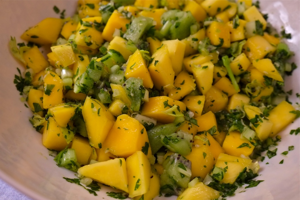 Kiwi Mango Salsa -- ©Kim Smith 2014.J