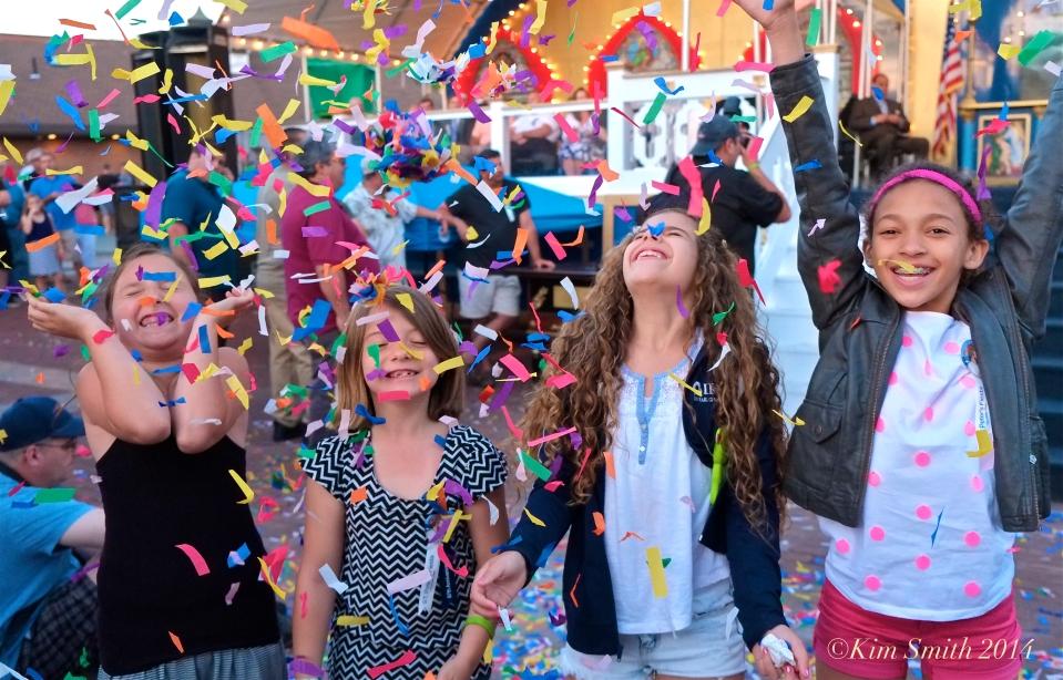 Confett! Saint Peter's Fiesta Gloucester ©Kim Smith 2014