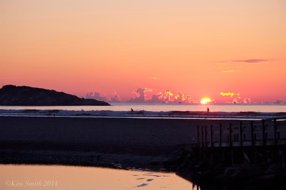 Good Harbor Beach September sunrise SUP ©kim Smith 2014.