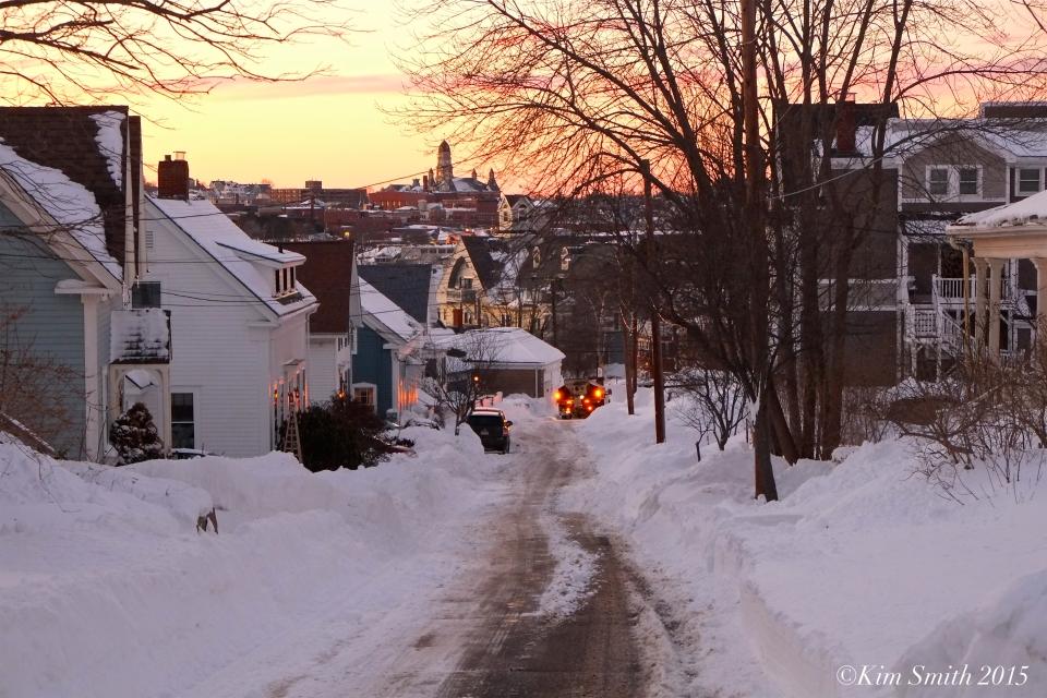 Plum Street East Gloucester Blizzard 2015 ©Kim Smith 2015