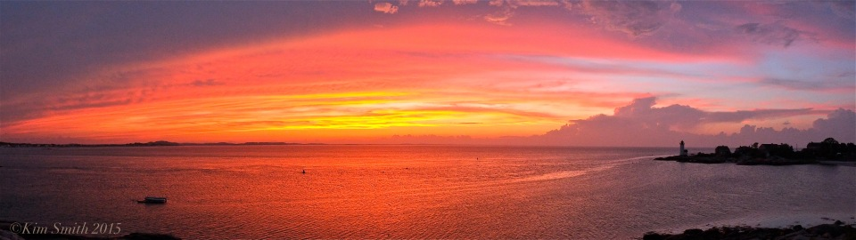 Lighthouse Beach Sunset Panorama ©Kim Smith June 2015