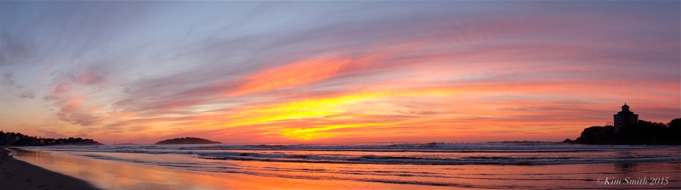 Good Harbor Beach Panorama Sunrise -2 ©Kim Smith 2015