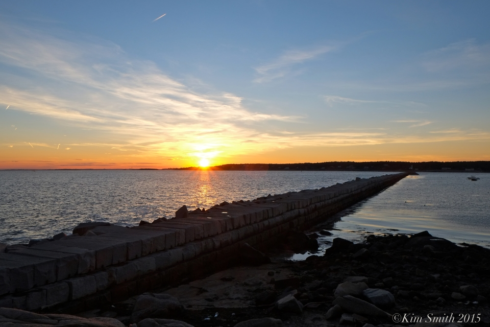 October sunset Dogbar Breakwater Eastern Point gloucester gKim Smith 2015JPG