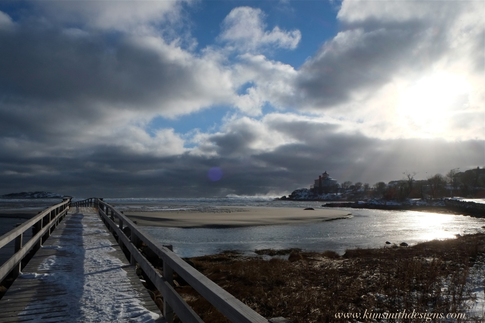 Good Harbor beach Blizzard Jonas ©www.kimsmithdesigns.com