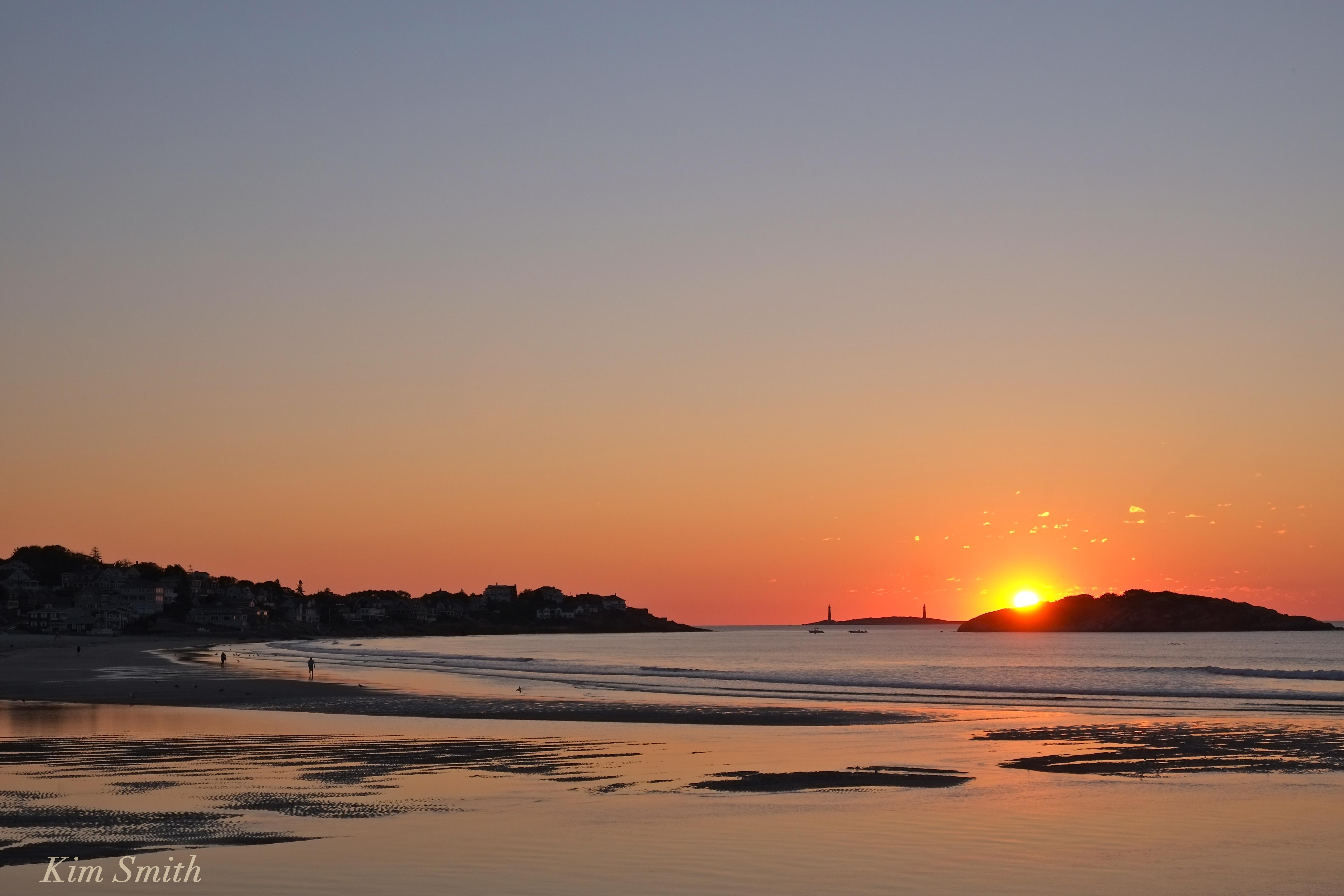 Good Harbor Beach Salt Island Sunrise August 9 2016 Copyright Kim Smith