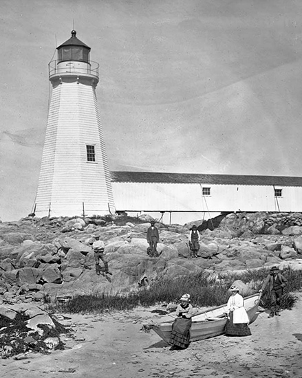 Annisquam Lighthouse c1870.  Benham Collection.