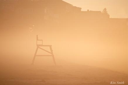 Good Harbor Beach Chair foggy morning copyright Kim Smith
