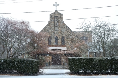Snowy Day St Anthonys by the Sea Gloucester MA copyright Kim Smith