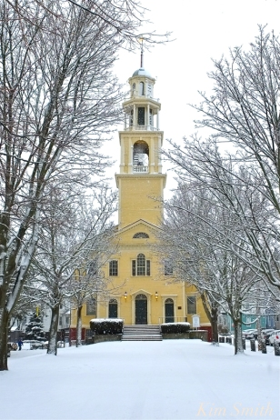 UU Church Gloucester MA Snowy Day copyright Kim Smith