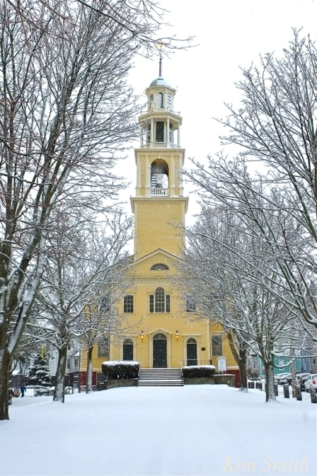 UU Church Gloucester MA Snowy Day copyright Kim Smith