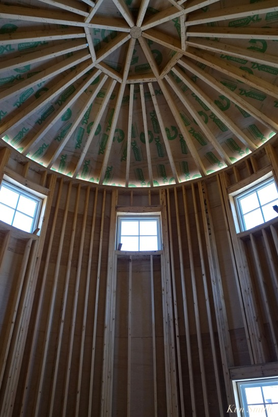 Briar Barn Inn construction detail ceiling -3 April 2018 copyright Kim Smith