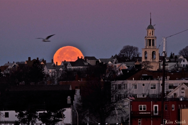 Full Moon Gloucester City Skyline November Frost Moon Beaver Moon -3 copyright Kim Smith