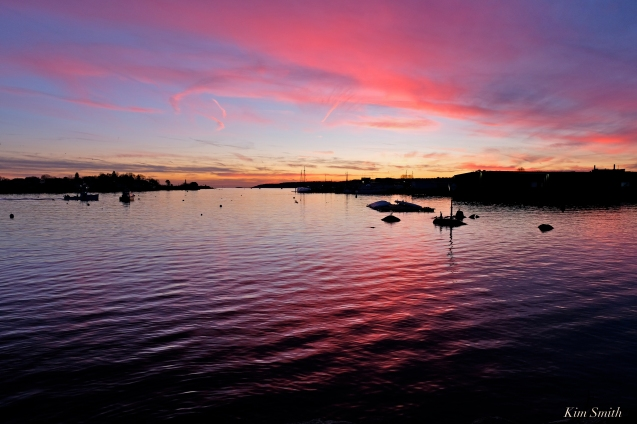 Gloucester Harbor Sunset copyright Kim Smith