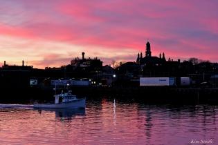Gloucester Skyline City Hall Sunset -2 copyright Kim Smith
