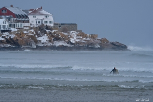 good harbor beach surfer sea smoke gloucester massachusetts winter storm 2019 copyright kim smith - 15