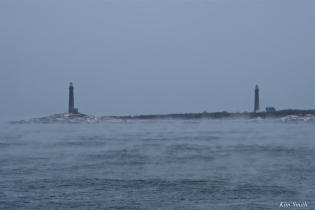 thacher island twin lights sea smoke gloucester massachusetts winter storm 2019 copyright kim smith - 18 copy