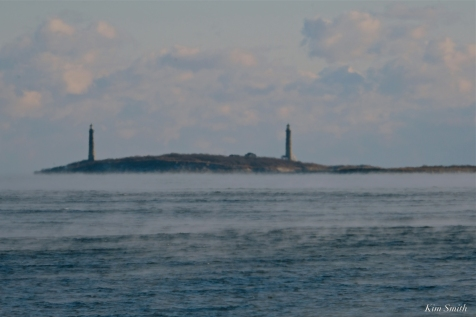 #GloucesterMA Twin Lights Sea Smoke Deep Freeze January 31, 2019 - 09