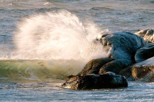 #GloucesterMA Waves Deep Freeze January 31, 2019 - 04