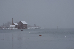 Snowy Day Paint Factory Gloucester Massachusetts copyright Kim Smith - 07