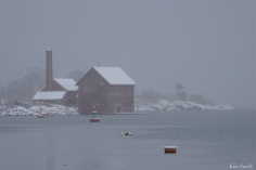 Snowy Day Paint Factory Ten Pound Island Gloucester Massachusetts copyright Kim Smith - 07