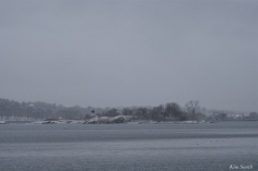 Snowy Day Ten Pound Island Lighthouse Gloucester Massachusetts copyright Kim Smith - 04