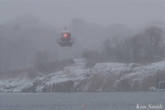 Snowy Day Ten Pound Island Lighthouse Gloucester Massachusetts copyright Kim Smith - 06