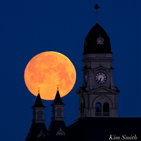 Super Moon Full Worm Moon Gloucester City Hall -1 copyright Kim Smith