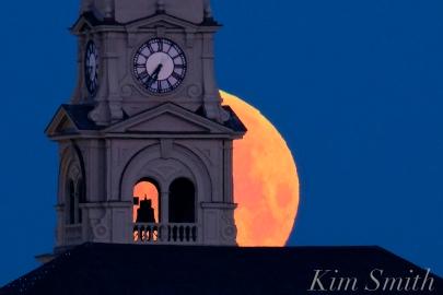 Super Moon Full Worm Moon Gloucester City Hall -4 copyright Kim Smith
