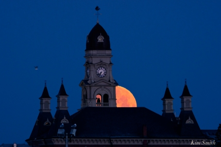 Super Moon Full Worm Moon Gloucester City Hall -8 copyright Kim Smith