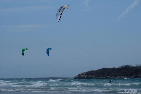 Kitesurfing Good Harbor Beach Gloucester copyright Kim Smith - 11