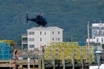 KRaken Fishing Boat Helicopter Filming Gloucester Harbor copyright Kim Smith - 04