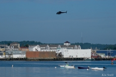 KRaken Fishing Boat Helicopter Filming Gloucester Harbor copyright Kim Smith - 09