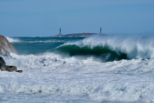 Thacher Island Twin Lights Waves RockportAtlantic Coast Storm copyright Kim Smith - 7 of 37