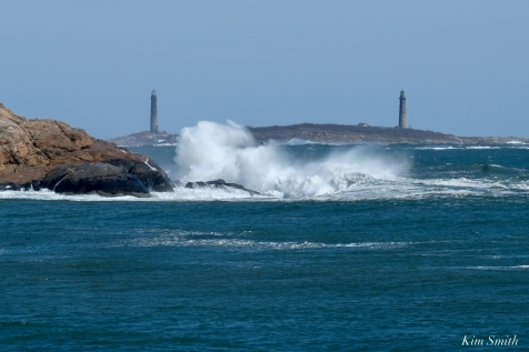 Twin Lights Salt Island Waves Rockport Atlantic Coast Storm copyright Kim Smith - 1 of 37