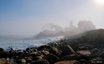 Eastern Point Lighthouse Gloucester Fog Lifting copyright Kim Smith - 1 of 1