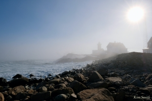 Eastern Point Lighthouse Gloucester Fog Lifting copyright Kim Smith - 10 of 23