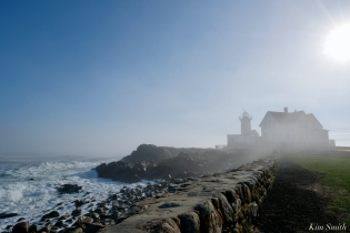 Eastern Point Lighthouse Gloucester Fog Lifting copyright Kim Smith - 7 of 23