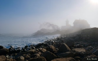 Eastern Point Lighthouse Gloucester Fog Lifting copyright Kim Smith - 9 of 23