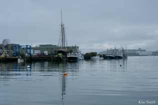 Marine Railways Schooner Roseway Gloucester Fog Lifting copyright Kim Smith - 1 of 23