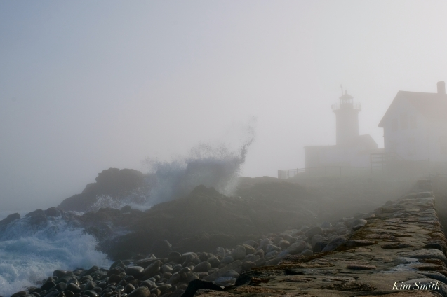 Mother Ann Rock Eastern Point Lighthouse Gloucester Fog Lifting copyright Kim Smith - 11 of 23